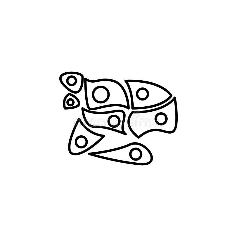 Ludzkiego organu komórka skóry konturu ikona Znaki i symbole mogą używać dla sieci, logo, mobilny app, UI, UX ilustracji