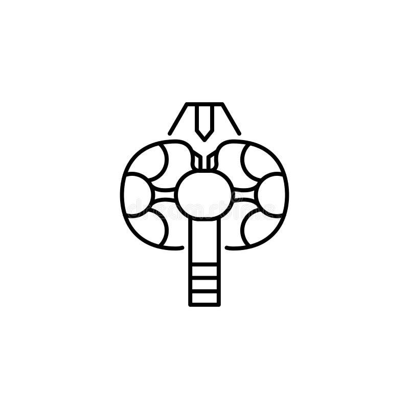 Ludzkiego organu konturu tarczycowa ikona Znaki i symbole mogą używać dla sieci, logo, mobilny app, UI, UX royalty ilustracja