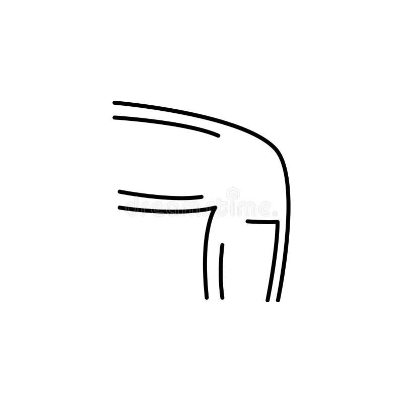 Ludzkiego organu mężczyzn konturu kolanowa ikona Znaki i symbole mogą używać dla sieci, logo, mobilny app, UI, UX ilustracja wektor