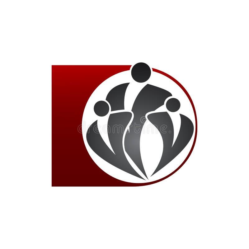 Ludzkiego społeczność logo szablonu ikony wektorowy ilustracyjny projekt royalty ilustracja