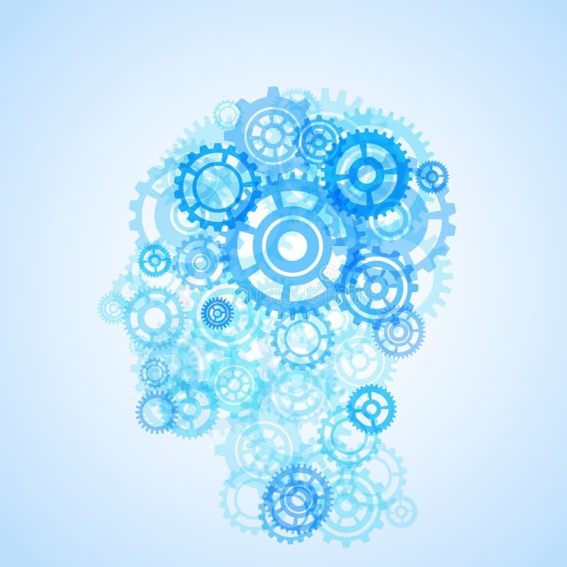Ludzkiej głowy kształta modela kreatywnie ilustracja ilustracji