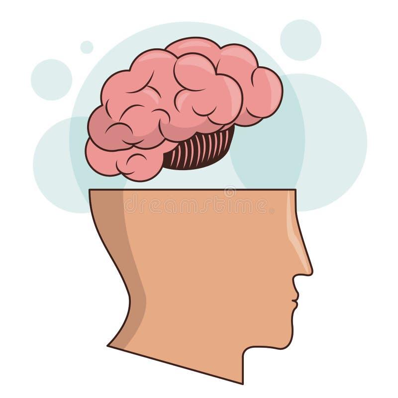 Ludzkiej głowy pamięci inteligenci móżdżkowy wizerunek royalty ilustracja