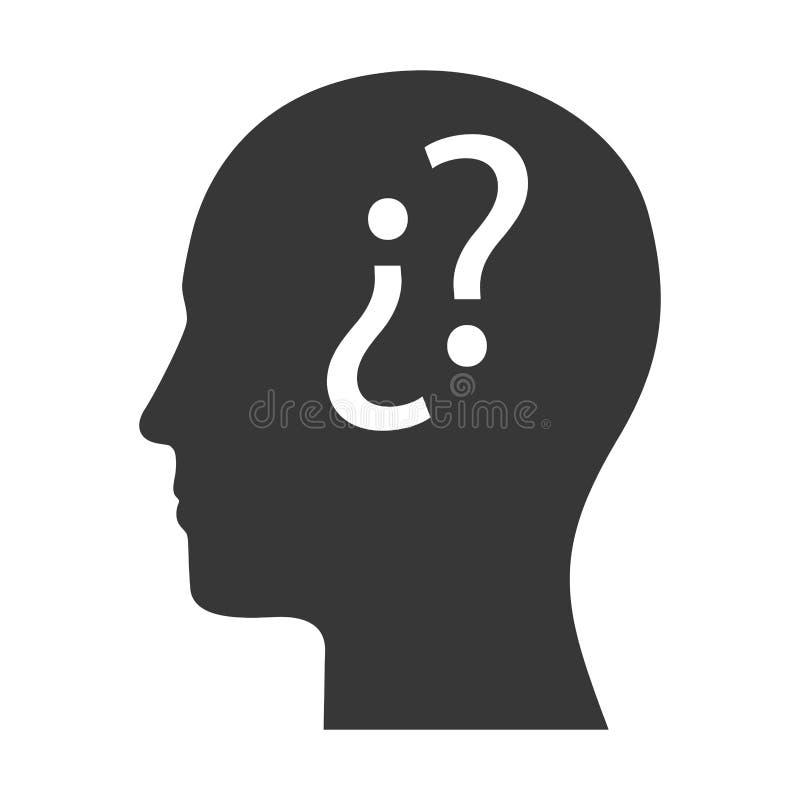 Ludzkiej głowy profil ilustracja wektor