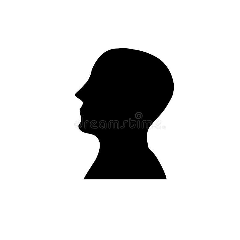 Ludzkiej głowy sylwetka ilustracja wektor