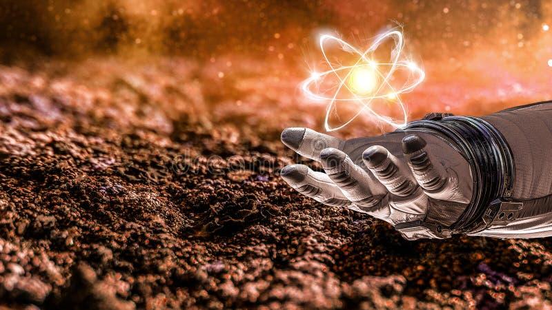 Ludzkości nauka i wszechświat obraz stock