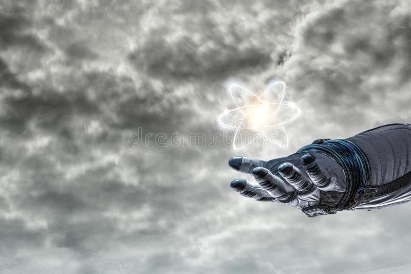 Ludzkości nauka i wszechświat obrazy royalty free
