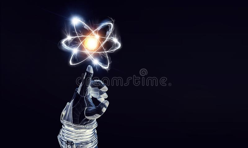 Ludzkości nauka i wszechświat zdjęcie stock