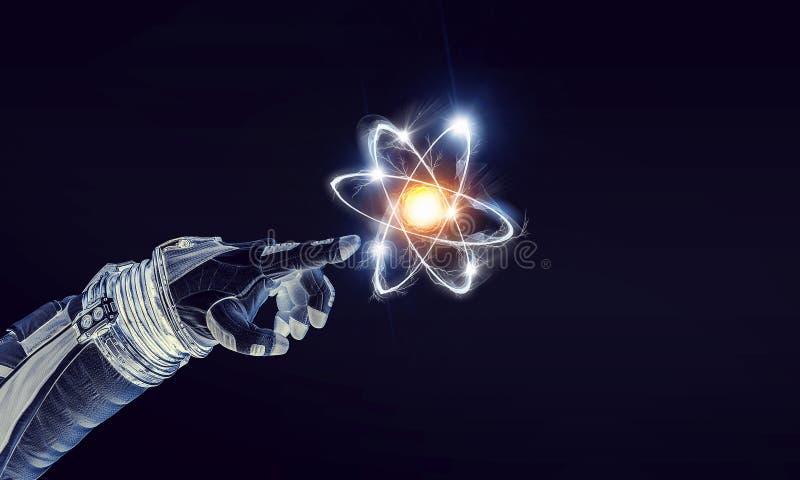 Ludzkości nauka i wszechświat fotografia stock