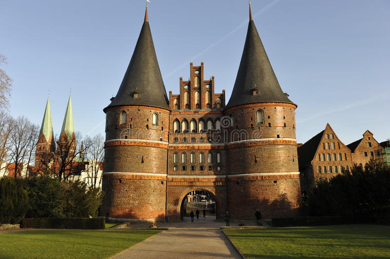 Luebeck, Holstentor Gate royalty free stock images