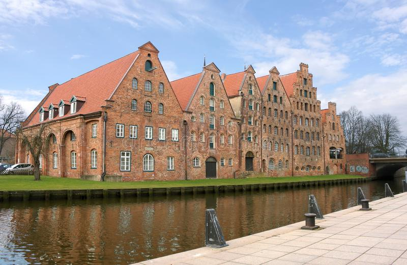 Luebeck - Zoute Reservoirs - I - stock fotografie