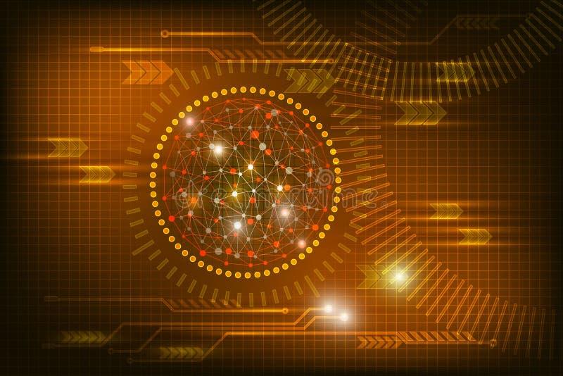 Lueur abstraite de fond de technologie dans la couleur rouge foncé illustration stock