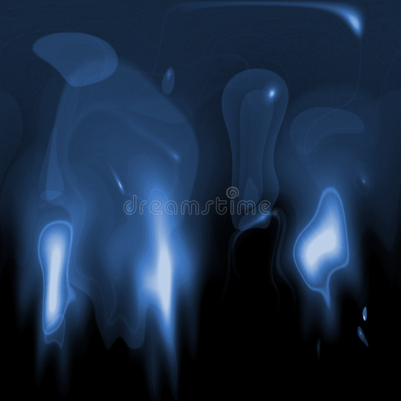 Lueur bleue illustration libre de droits