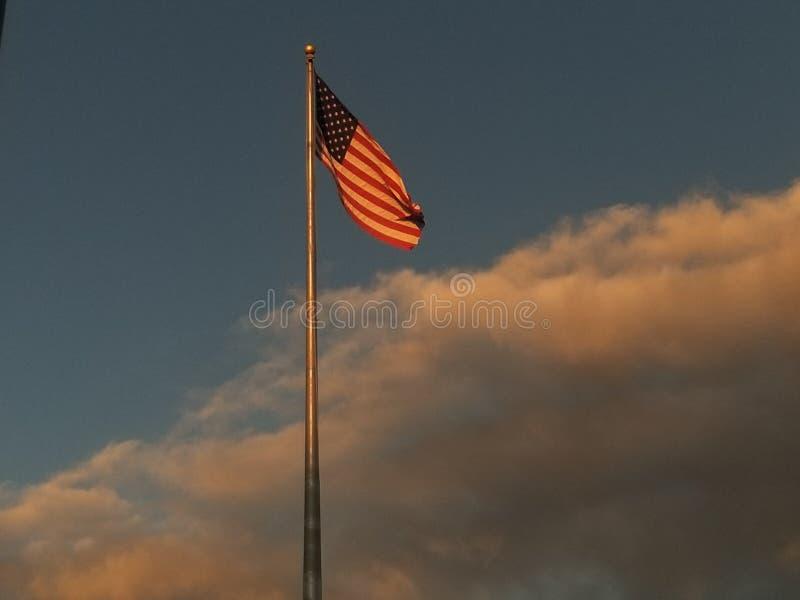 Lueur d'or de l'Amérique photographie stock libre de droits
