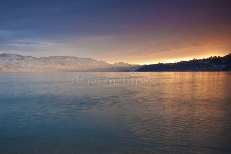 Lueur de coucher du soleil photo libre de droits