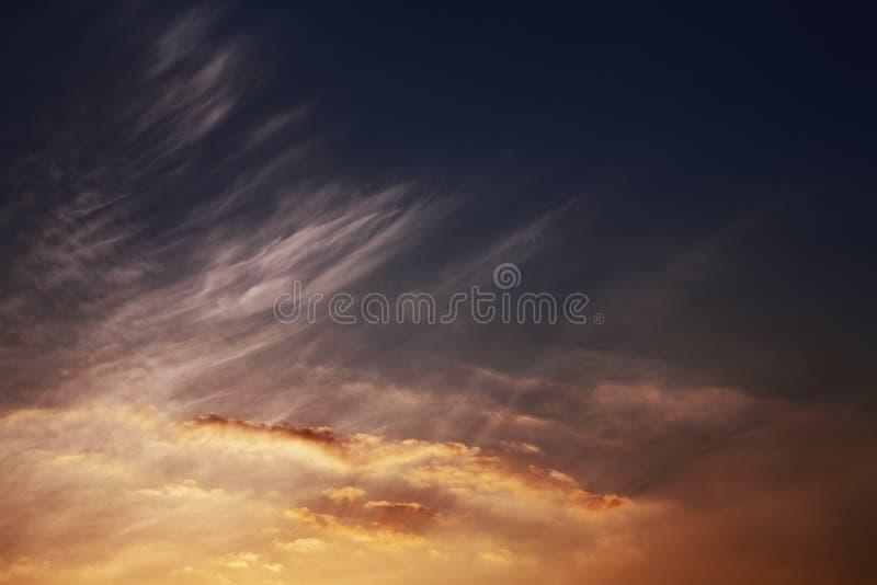 Lueur de coucher du soleil photographie stock libre de droits