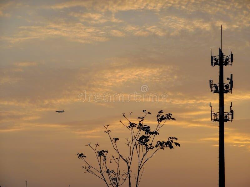 Lueur de coucher du soleil photo stock
