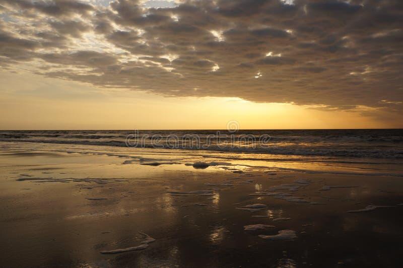 Lueur de lever de soleil chez Hilton Head images libres de droits