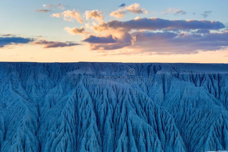 Lueur de paysage et de coucher du soleil de canyon photos libres de droits