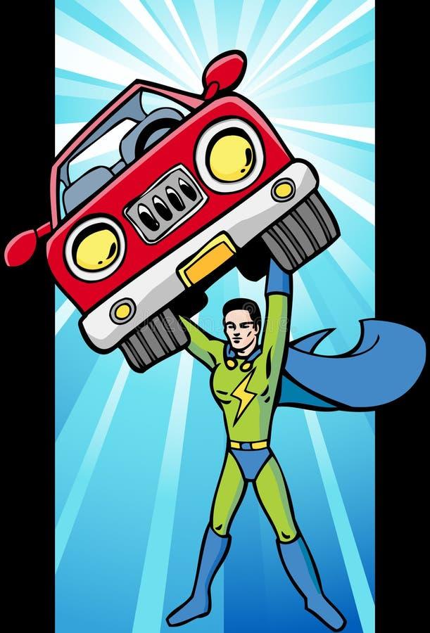 Lueur de Superhero d'énergie illustration de vecteur