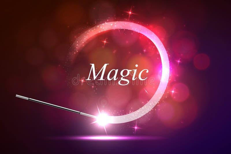 Lueur magique de fond illustration de vecteur