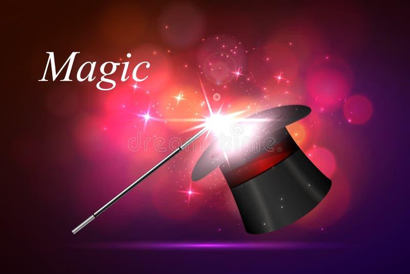 Lueur magique de fond illustration libre de droits