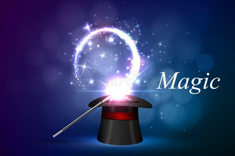 Lueur magique de fond illustration stock
