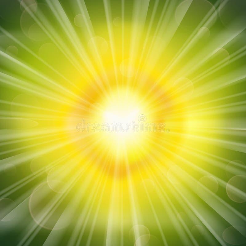 Lueur verte illustration de vecteur