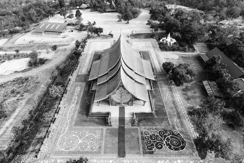 Lueur Wat Sirindhornwararam Phu Prao Temple, Ra d'arbre de Bodhi d'Ubon photos libres de droits