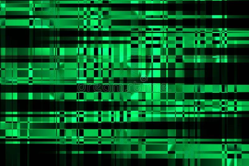 LUF effect golf Cyberspace en computernetwerken Het grote gegevens proceccing Moderne glitch illustratie stock illustratie