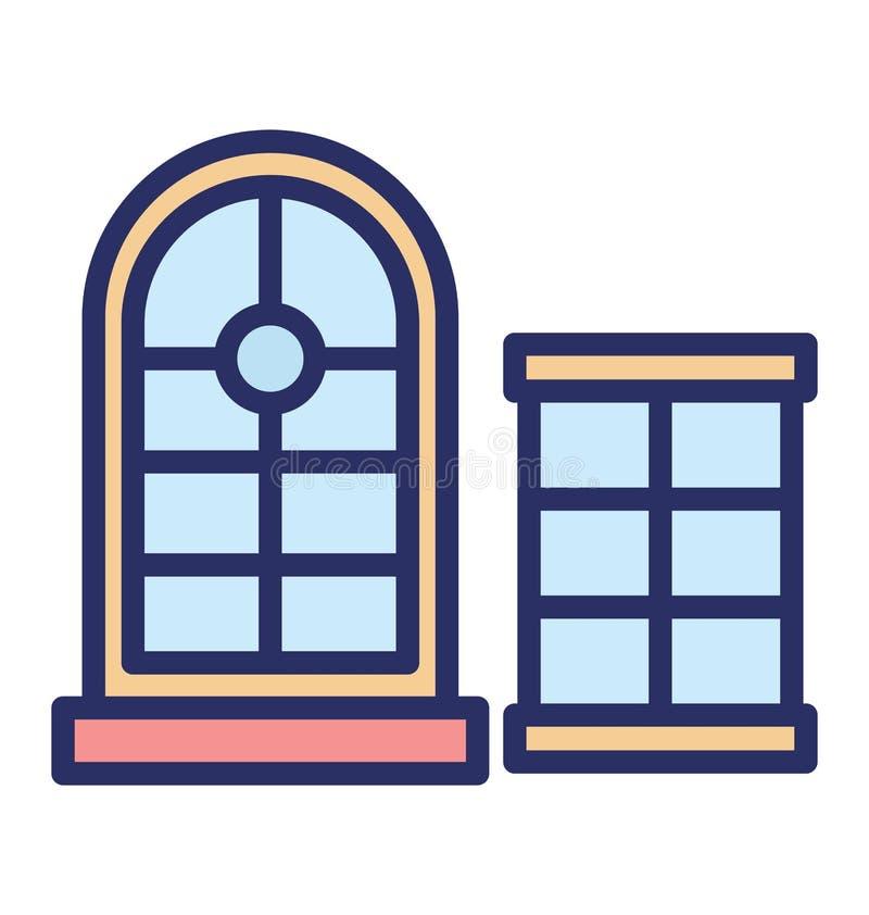 Lufcik Odizolowywał Wektorową ikonę która może łatwo redagować lub modyfikować royalty ilustracja