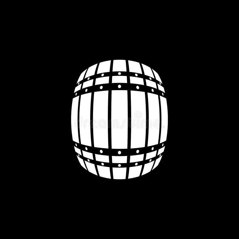 Lufowa ikona Beczka i baryłka, piwo, Lufowy symbol Ui Sieć logo Znak Płaski projekt app zapas ilustracja wektor