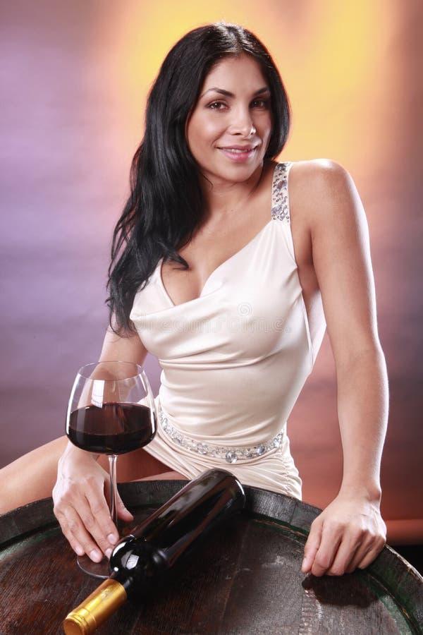 lufowy czerwone wino obraz stock