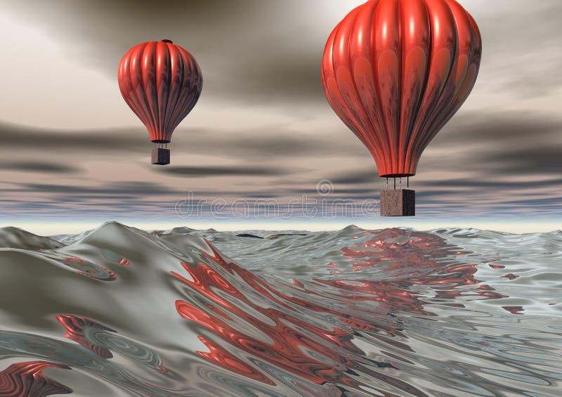 Download Luft 3d sväller varm red stock illustrationer. Illustration av float - 2607006