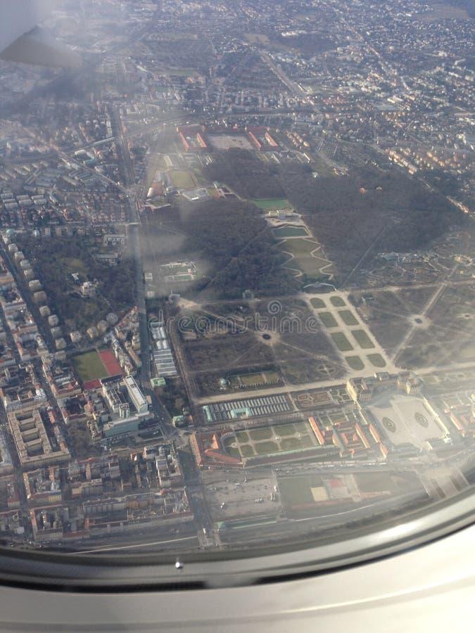 Luft-Ansicht Wiens Österreich stockbild