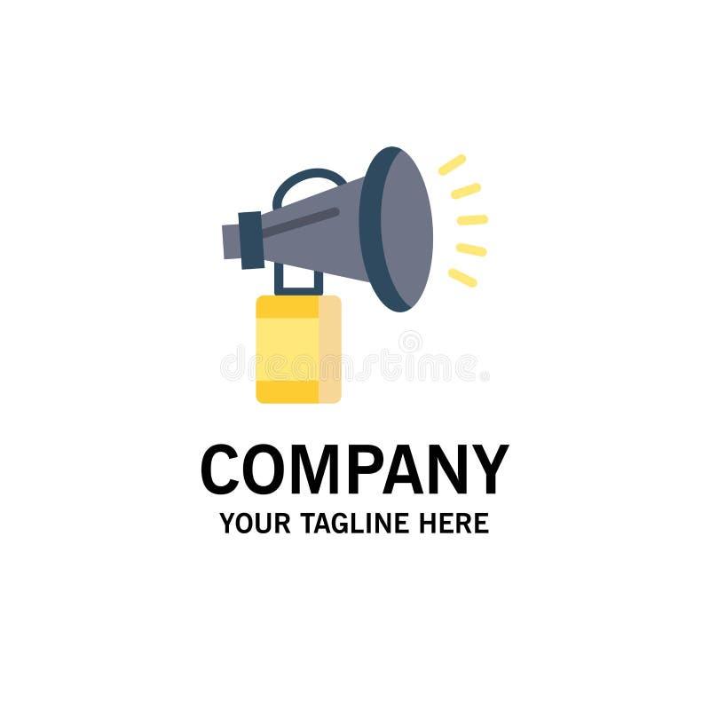 Luft attribut, kan, fanen, den horn- affären Logo Template plan f?rg royaltyfri illustrationer