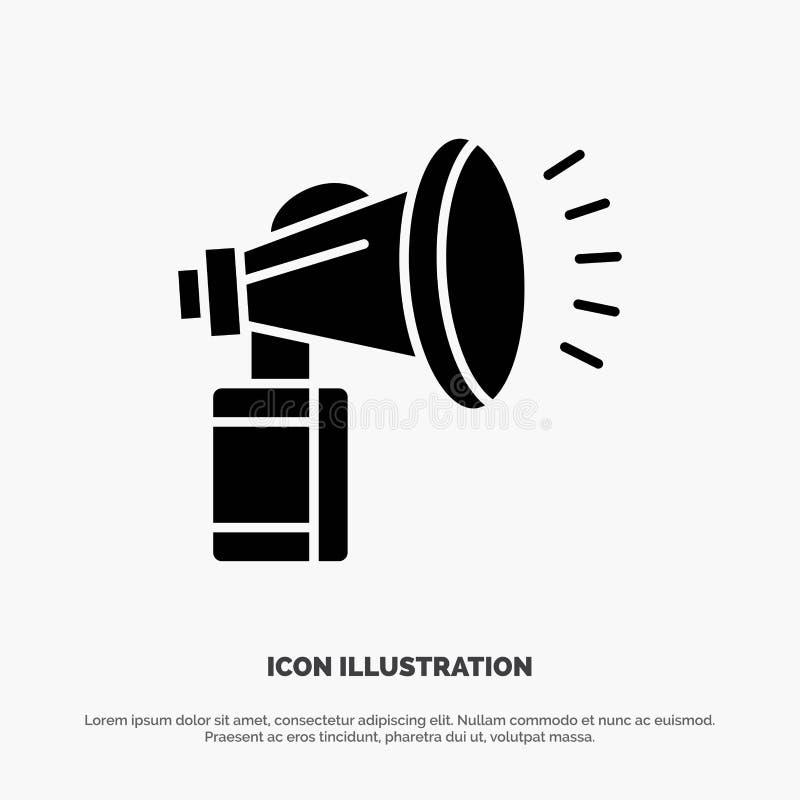 Luft attribut, kan, fanen, horn- fast skårasymbolsvektor vektor illustrationer
