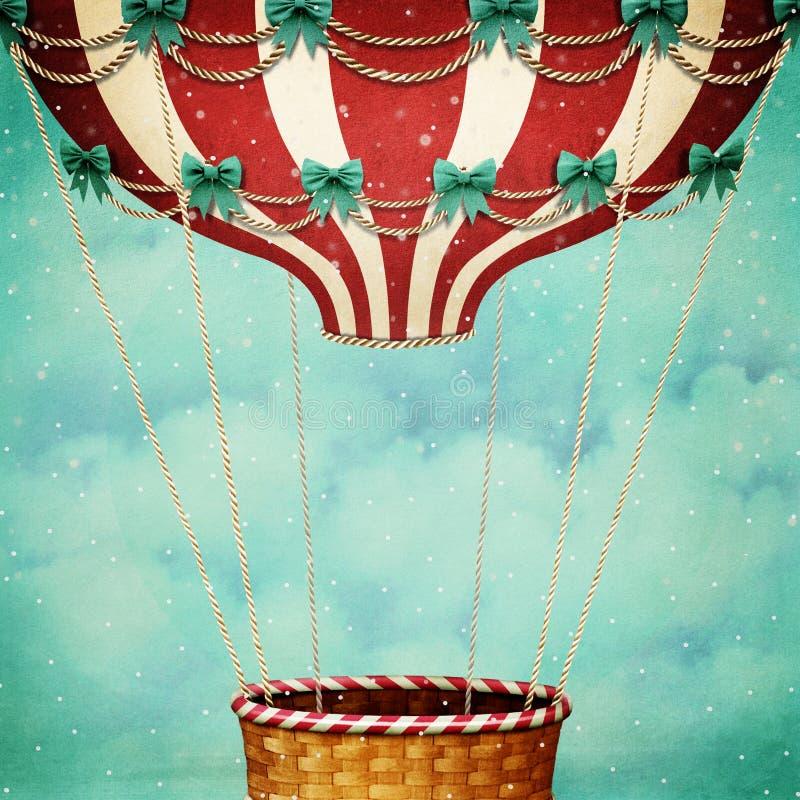 Luft-Ballon-Weihnachten lizenzfreie abbildung