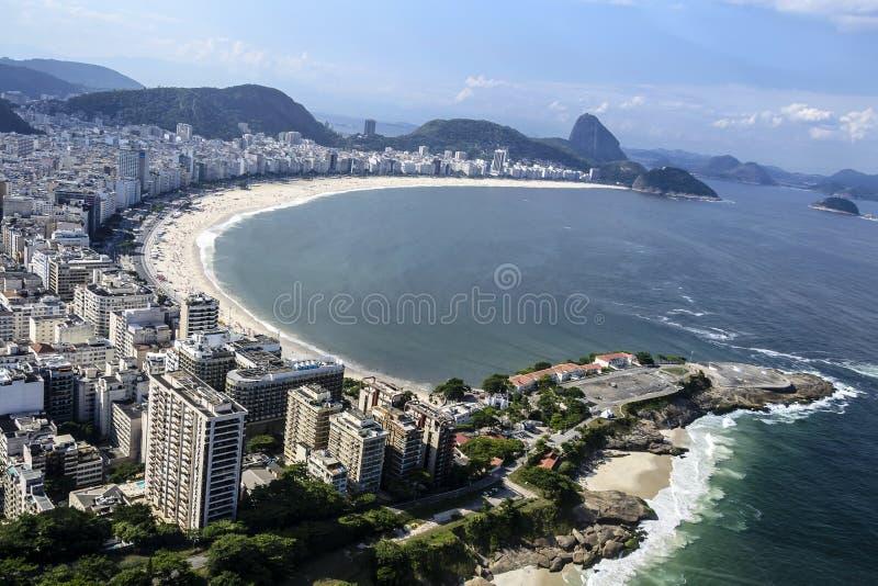 Luft Copacabana De Janeiro Rio Sikt Arkivfoton
