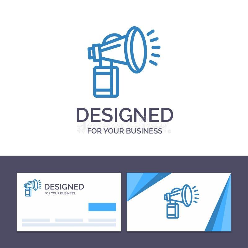 Luft för den idérika mallen för affärskortet och logo, tillskrivar, på burk, fanen, horn- vektorillustration royaltyfri illustrationer