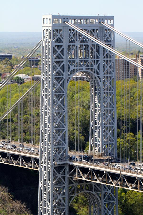 Luft-George Washington Bridge stockbilder