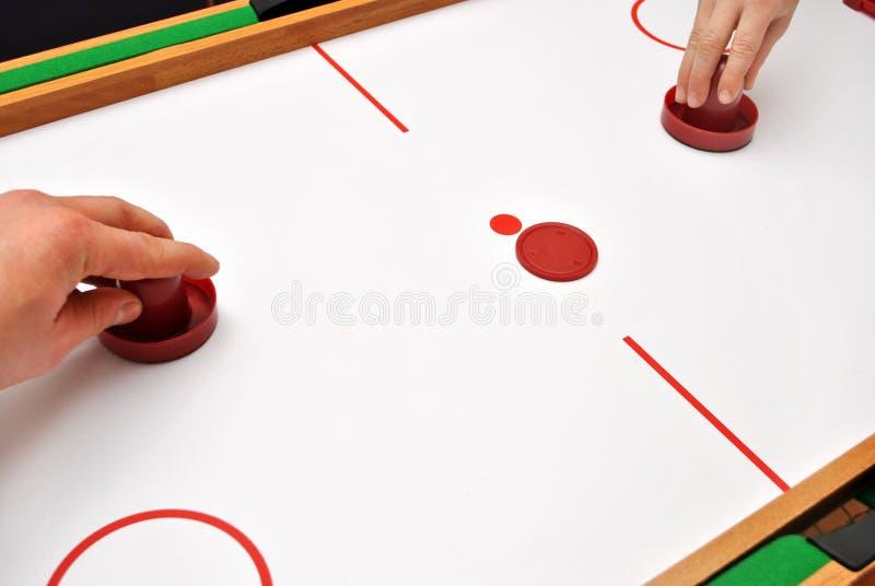 Luft-Hockey stockfoto