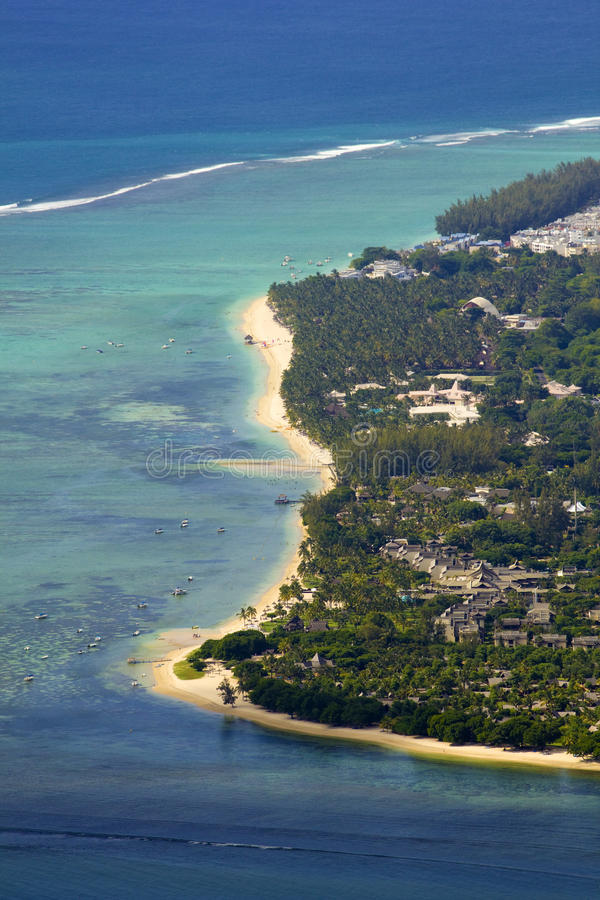 Luft-Mauritius lizenzfreie stockfotos
