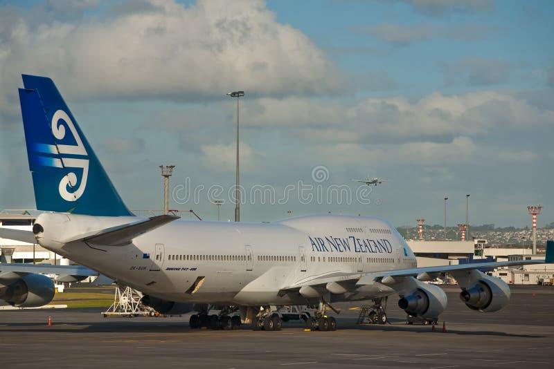 Luft New Zealand Boeing 747 royaltyfri bild
