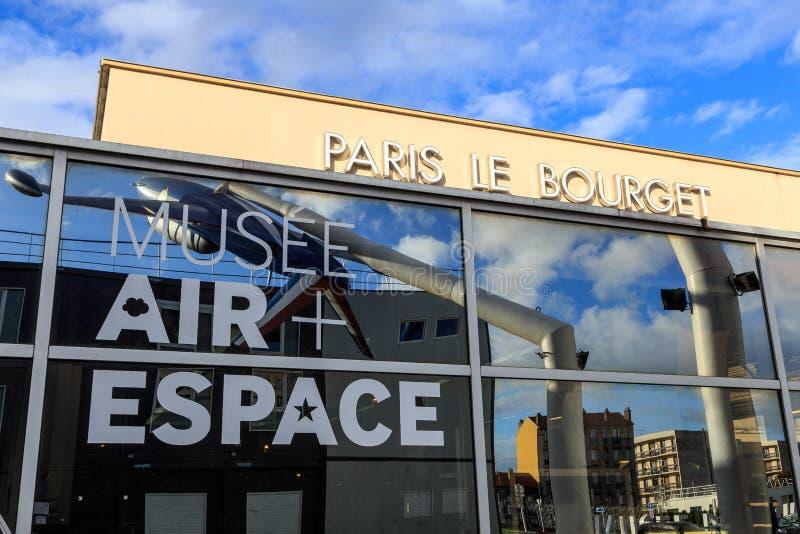 Luft- och utrymmemuseum Le Bourget, Frankrike royaltyfri fotografi