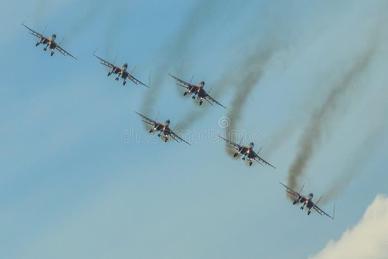 Luft ståtar Moskva Ryssland arkivfoto