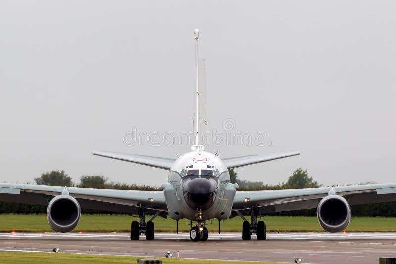 Luft-Sucher-Niet-Gelenk-Aufklärungsflugzeug ZZ664 Royal Air Forces RAF Boeing RC-135W bei RAF Waddington stockfotos
