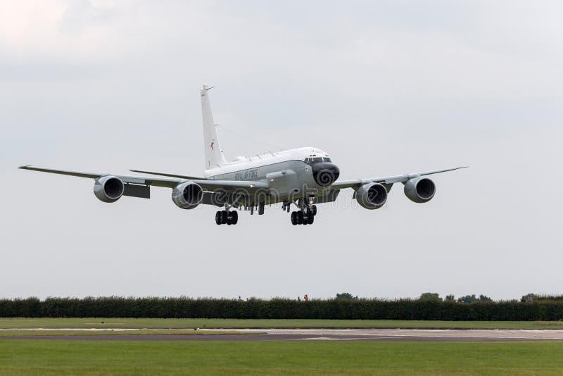 Luft-Sucher-Niet-Gelenk-Aufklärungsflugzeug ZZ664 Royal Air Forces RAF Boeing RC-135W bei RAF Waddington lizenzfreie stockfotografie