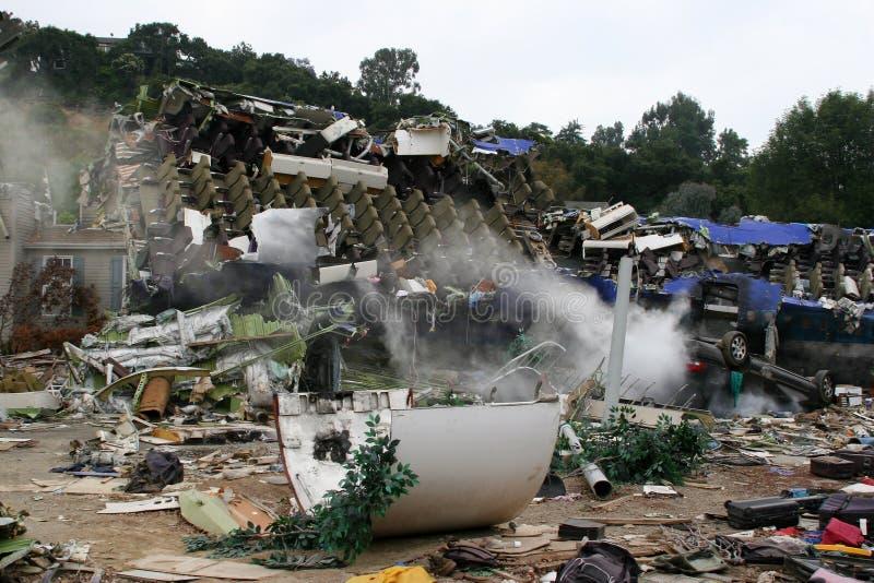 Luft-Systemabsturz-Unfall-Filmbühne lizenzfreie stockfotografie