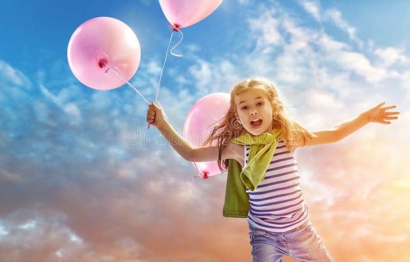 Lufta ballongen arkivfoton
