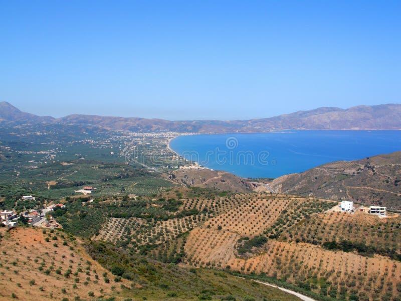 Lufta fotografiet, Kissamos, Chania, Kreta, Grekland arkivbilder